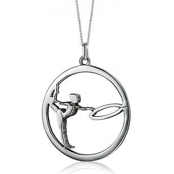 Sølv vedhæng RSG» gymnast med dæk «.»