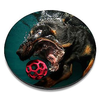 i-Tronixs - Underwater Dog Printed Design Non-Slip Round Mouse Mat for Office / Home / Gaming - 1