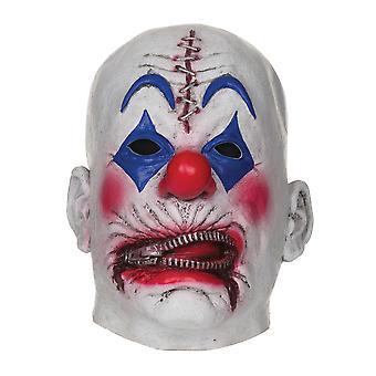Reißverschluss Clownsmaske