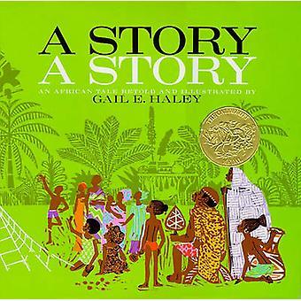 قصة A-قصة-حكاية أفريقية من غيل هاء هالي--9780689205118 ب