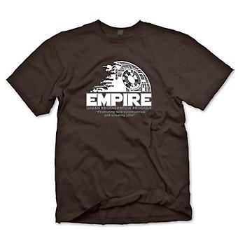 Mens T-shirt - Empire Urban Regeneration Death Star - Star Wars