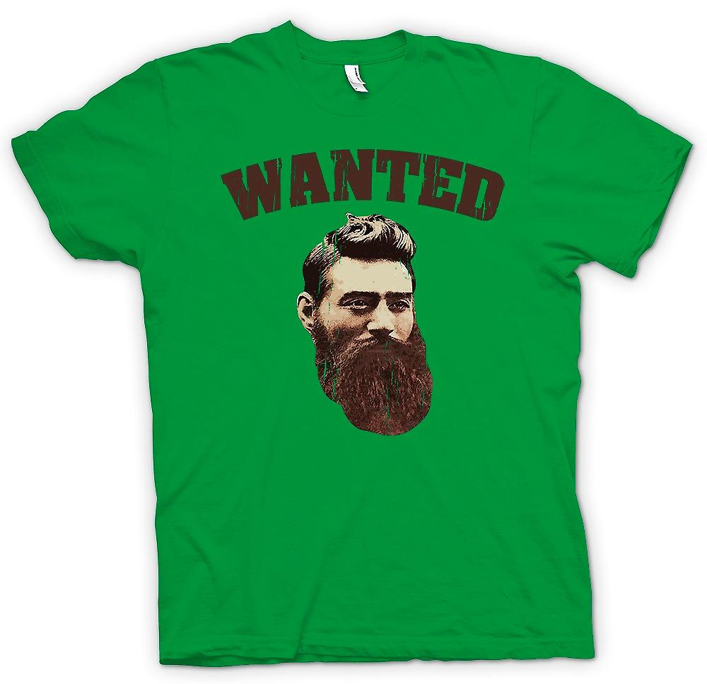 Légende de criminelle australienne Mens T-shirt - Portrait de vieux Ned Kelly-