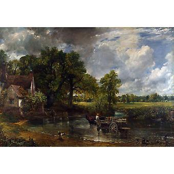 Heuwagen, John Constable, 40x60cm mit Tablett