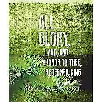 All Glory Palm Sunday Images Bulletin, Large (Pkg� of 50) Large