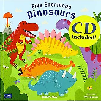 Five Enormous Dinosaurs (Classic Books with Holes 8x8 with CD)