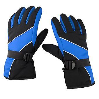 TRIXES Warm buiten koud weer wintersport sneeuw handschoenen zwart & blauw