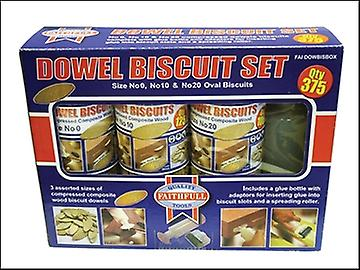 Faithfull Biscuit Wood Kit (150 x No.0, 125 x No.10, 100 x No.20)