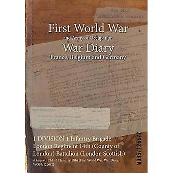 1 DIVISION 1 Infantry Brigade London Regiment 14th County of London Battalion London Scottish  4 August 1914  31 January 1916 First World War War Diary WO9512662 by WO9512662