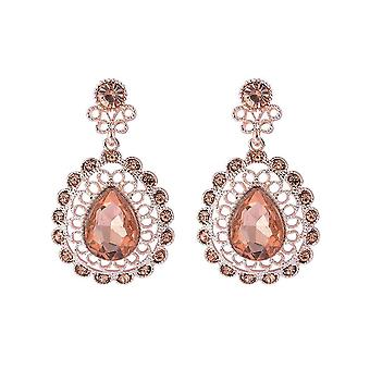 Intrigue Womens/Ladies Sparkly Antique Look Earrings
