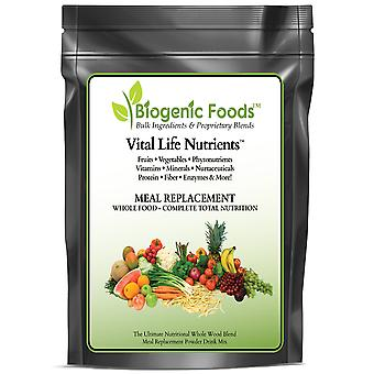 Vital Life Nutrients (TM) - The Complete & Ultimate Natural Whole Food Meal Replacement Powder Drink Mix