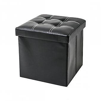 Rebecca Möbel Puff hocker schwarzer Würfel Design Möbel modernes Wohnzimmer
