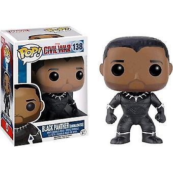 Funko inbördeskrig Black Panther Ltd Edition pop! Vinyl figur leksak