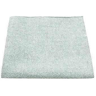 Mint Green Herringbone Pocket Square, Handkerchief