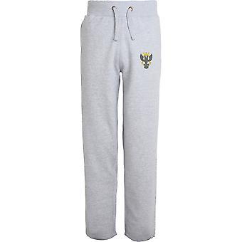 Mercian Regiment - Licensed British Army Embroidered Open Hem Sweatpants / Jogging Bottoms