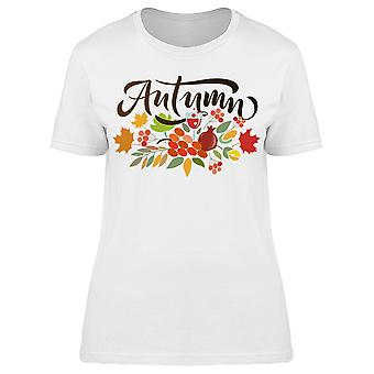 Autumn Lettering Graphic Tee Women's -Image by Shutterstock