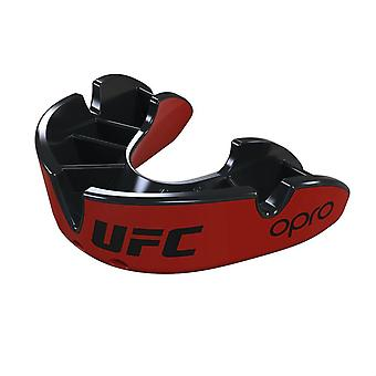 Opro Junior UFC Silver Mouth Guard Red/Black