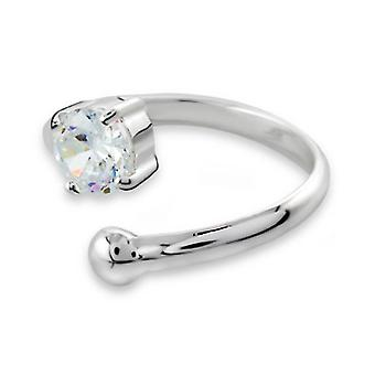 Star - 925 Sterling Silver Jewelled Rings - W79X