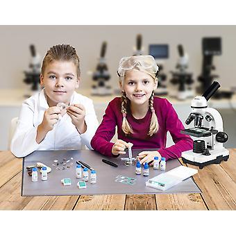 BRESSER JUNIOR smartes Mikroskopie-Zubehörset mit QR-Code für Zusatzinfos