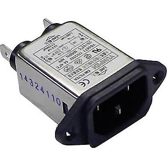 Mains filter + IEC socket 250 Vac 6 A 0.7 mH (L x W x H) 57 x 25.25 x 52.3 mm Yunpen YB06T1 1 pc(s)