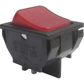 Toggle switch 250 Vac 10 A 1 x Off/On SCI R13-87B-02 RED latch 1 pc(s)