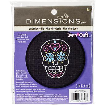 Learn-A-Craft Sweet Sugar Skull Counted Cross Stitch Kit-3