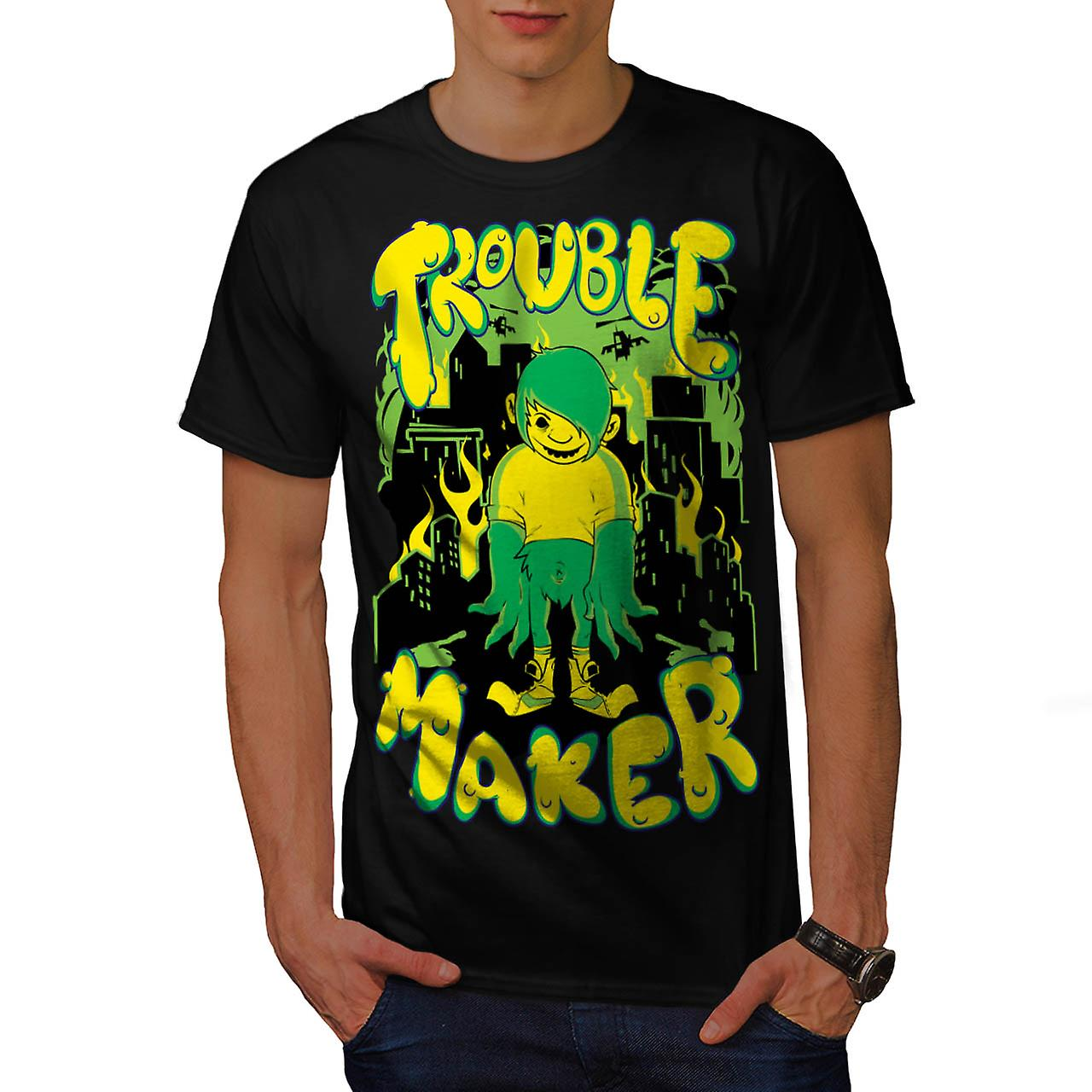 Trouble Maker Youth Chaos Problem Men Black T-shirt | Wellcoda