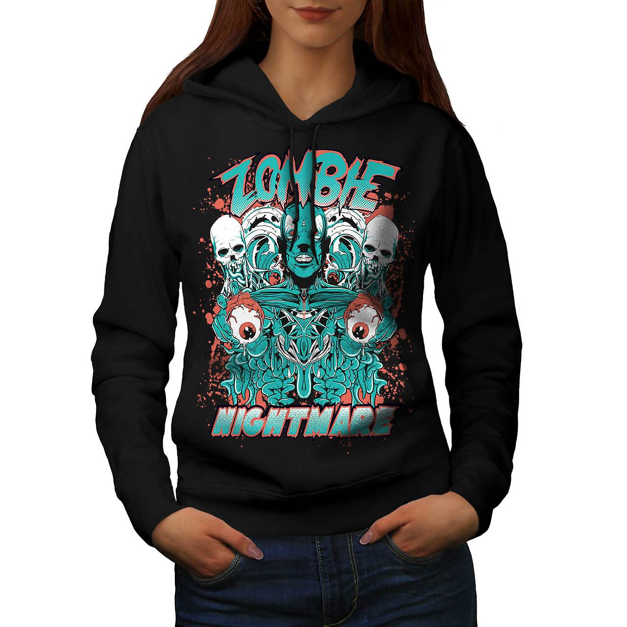 Dead Zombie Nightmare Evil Gang Women Black Hoodie | Wellcoda