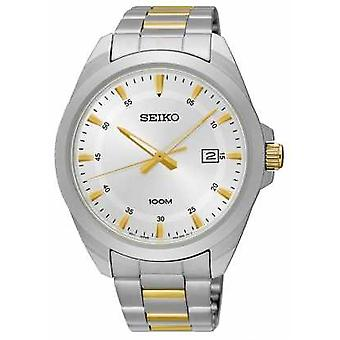 Seiko Mens Two Tone Stainless Steel Silver Dial SUR211P1 Watch