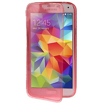 Mobile Shell flip cross for mobile Samsung Galaxy S5 / S5 neo pink
