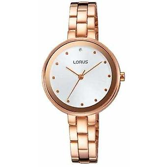 Lorus Womens Rose Gold Tone Stainless Steel White Dial RG260LX9 Watch