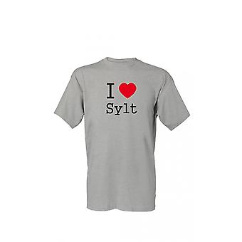 T-Shirt I love Sylt S-4XL