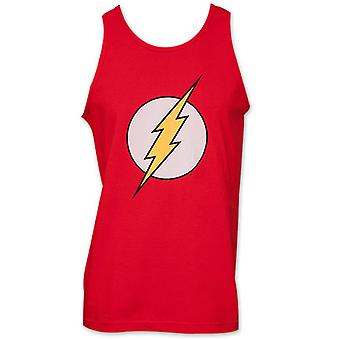 Flash-Logo DC Comics kostume mænds Tank Top Shirt - rød