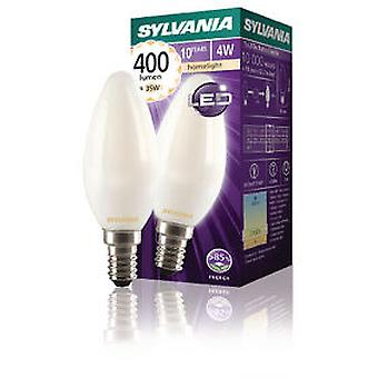 Sylvania Filament lamp Led Candle E14 4W 400Lm Satin (Verlichting , Spaarlampen)