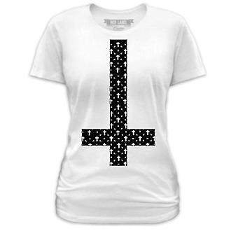 Goodie Two Sleeves Womens Tshirt White Patterned Cross