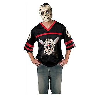 Jason Voorhees Hockey Jersey Friday The 13th Horror Movie hommes Costume