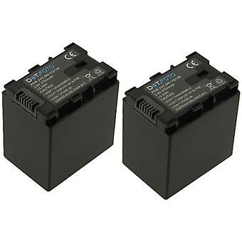 2 x Dot.Foto JVC BN-VG138 Replacement Battery - 3.6v / 3750mAh