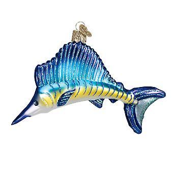 Fishermans trofæ fisk Sejlfisk glas jul ferie Ornament