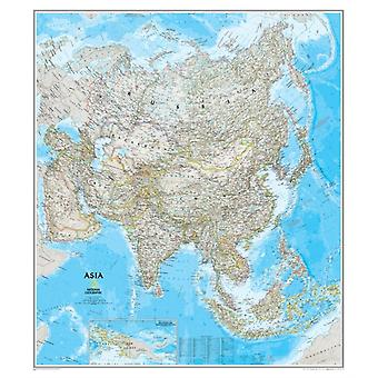 Asia Classic laminated : Wall Maps Continents: PP.NGC602812 (Nonfiction Reading and Writing Workshops) (Map) by National Geographic Maps