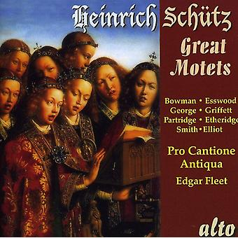 H. Schutz - Heinrich Sch Tz: Great Motets [CD] USA import