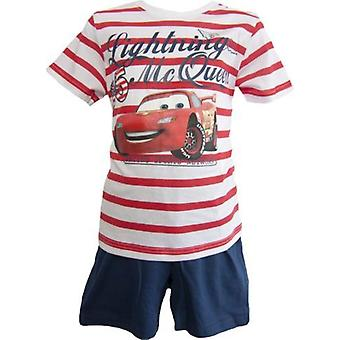 Disney Cars Boys Shortie Pyjamas Stripes