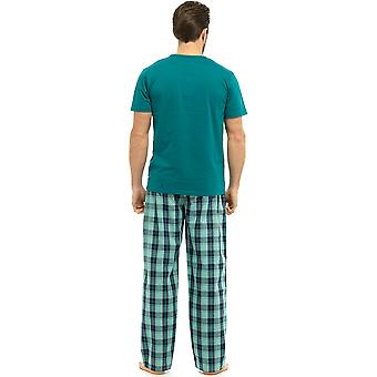 Wolf & Harte Herren Baumwoll Short Sleeve Top Pyjama Lounge tragen
