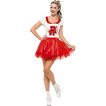 Sandy cheerleader costume with skirt and top size S