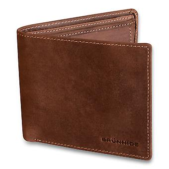Brunhide Mens Real Distressed Leather Wallet With Coin Pocket Bifold 217-300