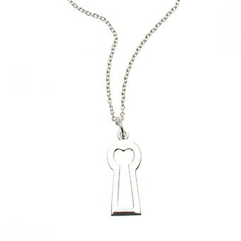 W.A.T Sterling Silver Plated Keyhole Shaped Necklace