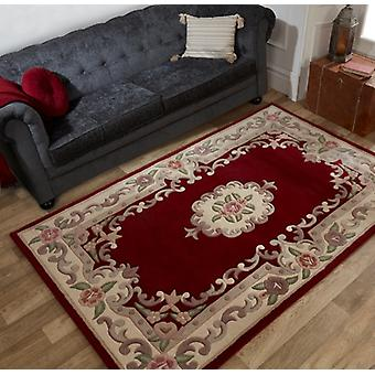 Lotus Aubusson Red  Rectangle Rugs Traditional Rugs