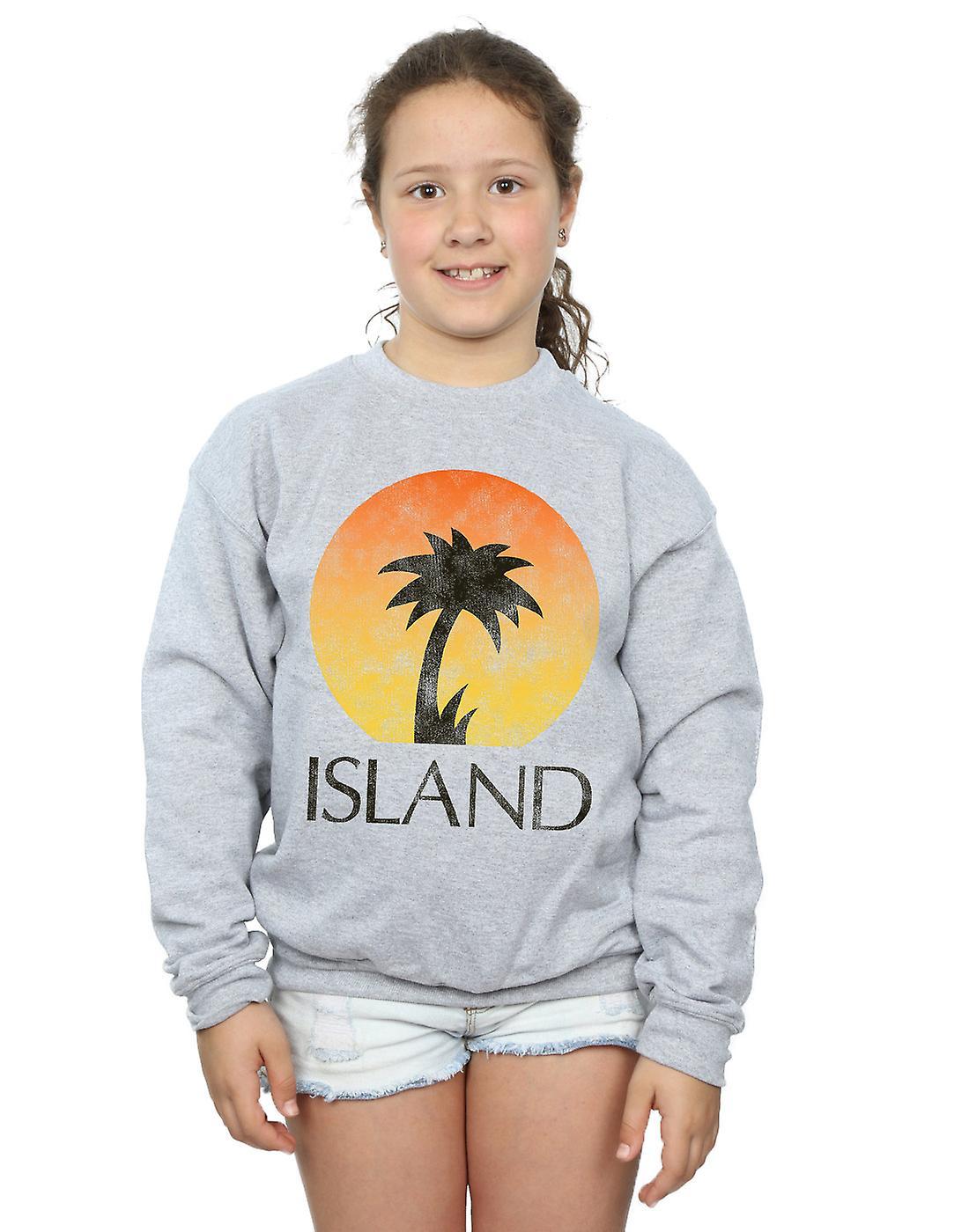 Island Records Girls Distressed Logo Sweatshirt