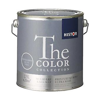 Histor The Color Collection muurverf kalkmat expression blue 7505 2,5 l