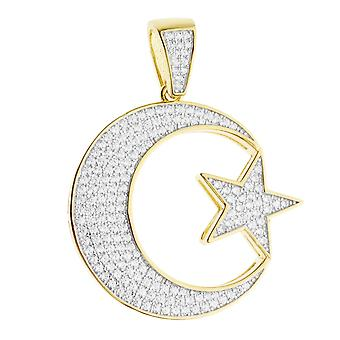 Premium bling - sterling silver Hilal Crescent Moon pendant