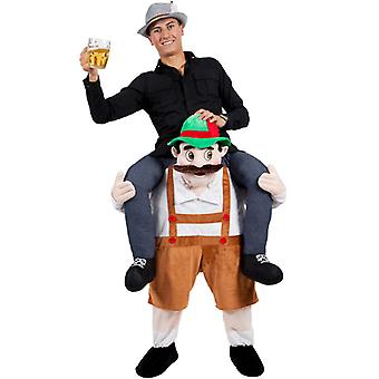 Adults Fancy Dress One Size Carry Me Bavarian Beer Guy Costume