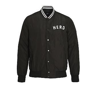 HERO'S HEROINE Black Bomber Jacket